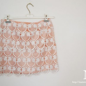 STYLE: DIY Fashion, Lacey & Blingey Skirts